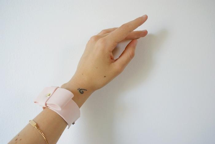 neoprene bow bracelet diy francinesplaceblog