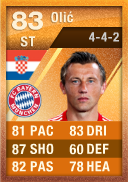 Ivica Olic (IF2) 83 - FIFA 12 Ultimate Team Card - Orange MOTM