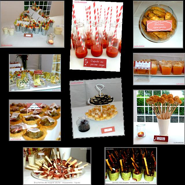 image Pièces cocktail pour buffet dînatoire 65 personnes