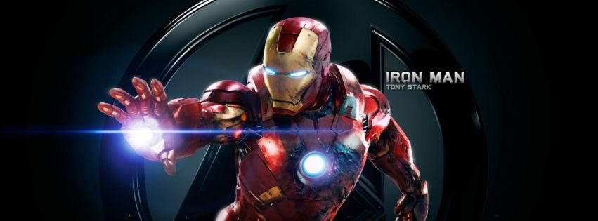 Iron man Tony Stark facebook cover
