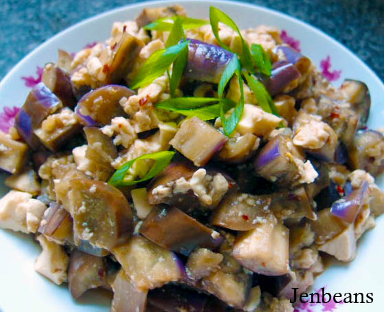 Jenbeansblog: Fragrant eggplant mapo tofu (魚香茄子 meets ...