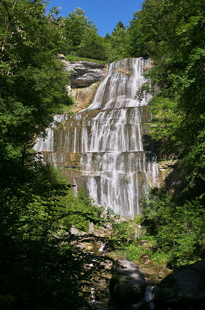 Image of Eventail waterfall on Hérisson river