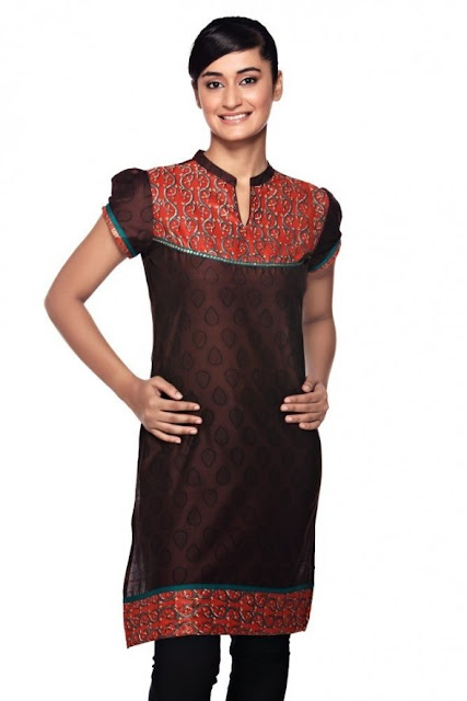 Mix-and-Match-Brown-Kurti
