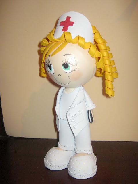 Patron de enfermera en foami - Imagui