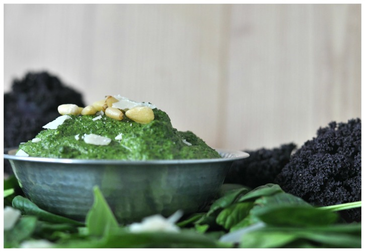 Kale Spinach Pesto with Orange - eat your veggies!