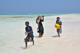 Kids playing in zanzibar