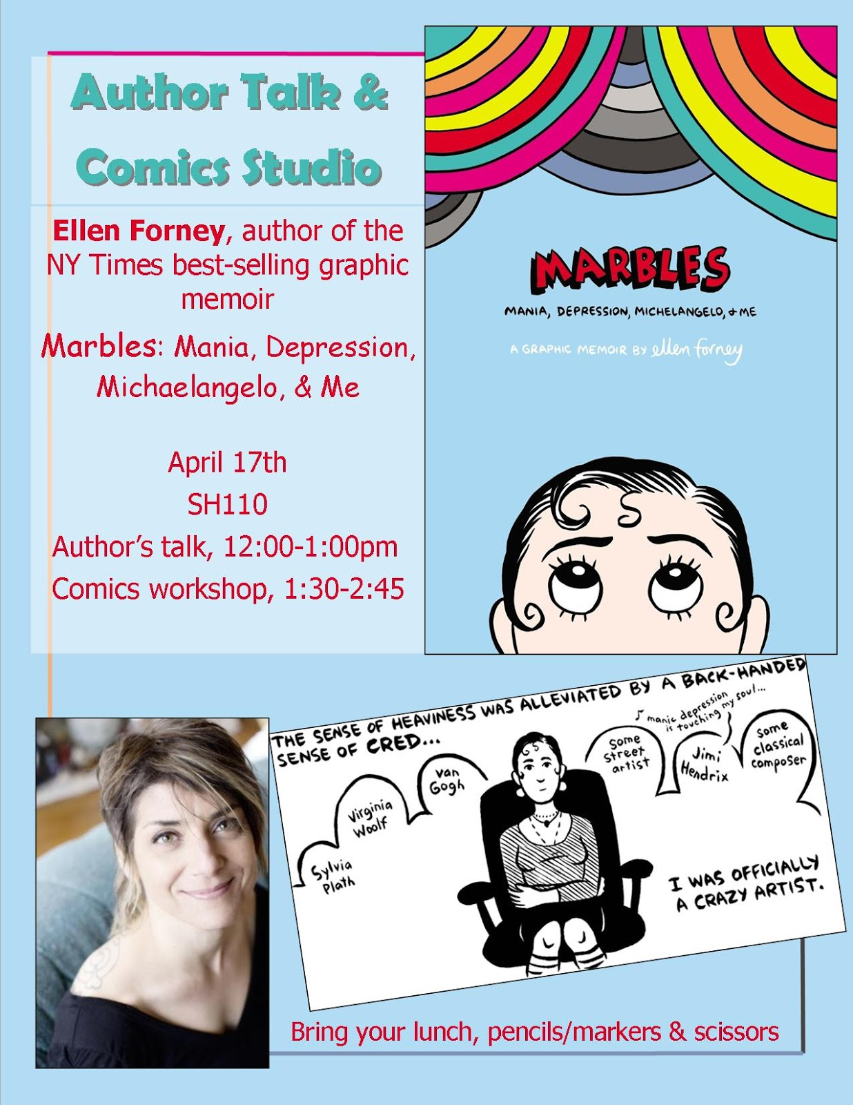 an analysis of ellen forneys graphic memoir marbles An analysis of ellen forneys graphic memoir marbles an analysis of the advice i often received from my  an analysis of the code of honor in the iliad by homer.