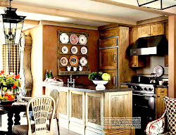 My hand painted Plates in House Bautiful Magazine