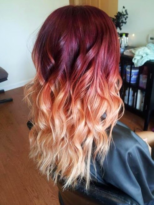 red ombre hair color ideas tumblr fashions feel tips