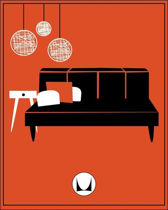 Mad For Mid Century Vintage Herman Miller Sofa Ad