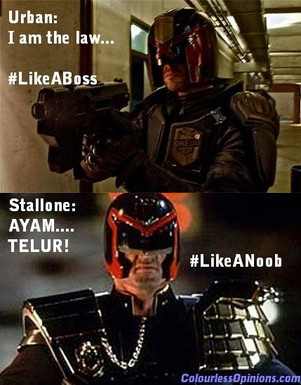 Stallone Karl Urban Judge Dredd