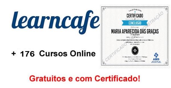 Learncafe oferece mais de 176 cursos online grátis