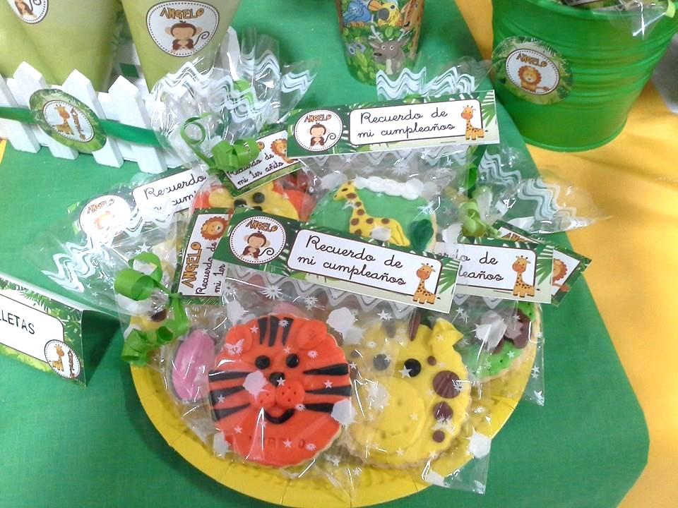 Chuches personalizadas cumpleaños selva