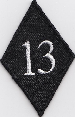 Diamond patch with 13