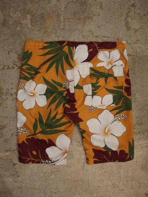 Engineered Garments Lafayette Short in Gold Poly Cotton Hawaiian Print Spring/Summer 2014 SURISE MARKET