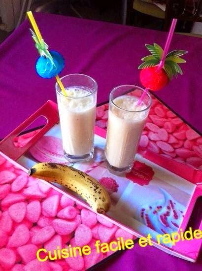 Cuisine facile et rapide smoothies bananes simple et rapide avec lait minusl - Cuisine simple et rapide ...