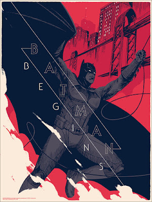 Batman Begins Screen Print by Patrick Leger & Mondo