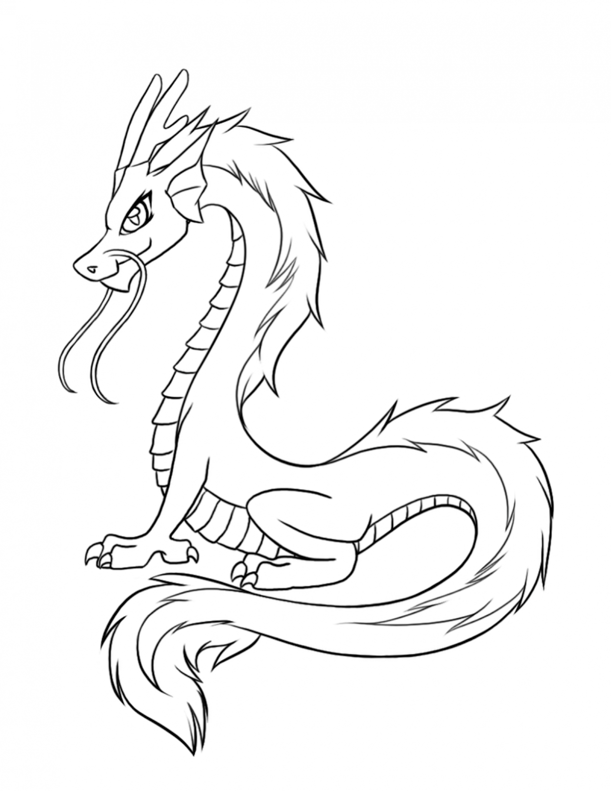 dragon coloring pages free - photo#25