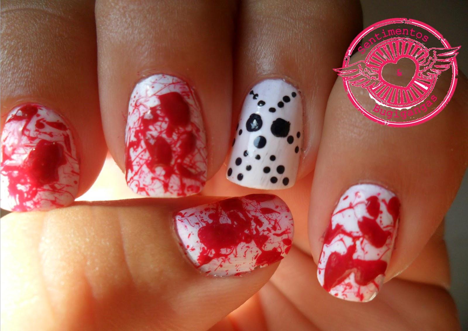 Jason Halloween Nail Art: Best images about nail art halloween on ...