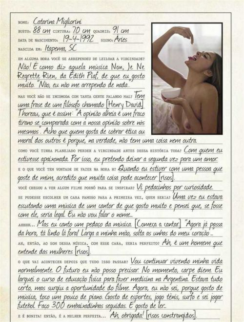Catarina Migliorini (a virgem)