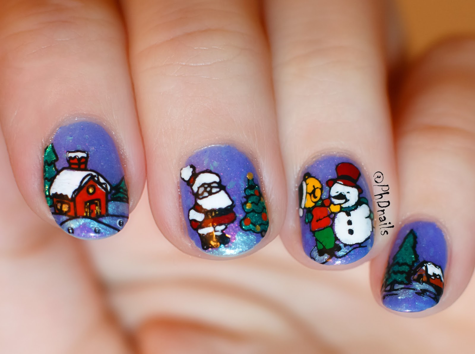 PhD nails: Challenge your nail art: stamping decals nail art with ...