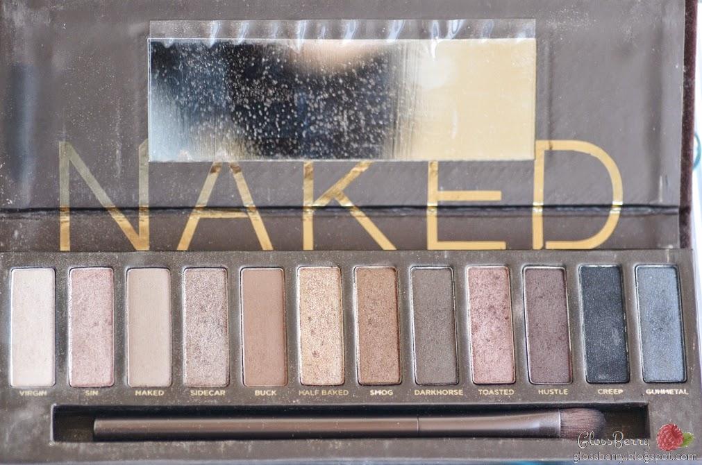 urban decay naked 1 palette review פלטת נייקד אורבן דיקיי צלליות   סקירה בלוג איפור וטיפוח גלוסברי glossberry beauty blog