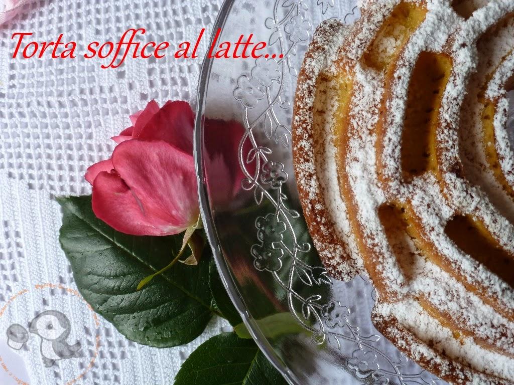 torta soffice al latte o hot milk sponge cake...... una rosa per la mamma ^_^