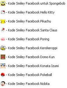 Cara Membuat Smile di Facebook - Kode Smile Facebook