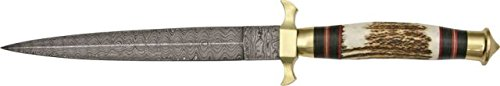 Pisau Komando Damascus Commando Dagger Fixed Knife DM1031