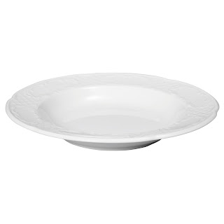 Farfurie supa 'Flora' Ø 240 mm, din portelan alb, potrivita pentru catering, se foloseste la masina de spalat vase si cuptorul cu microunde in conditii de siguranta