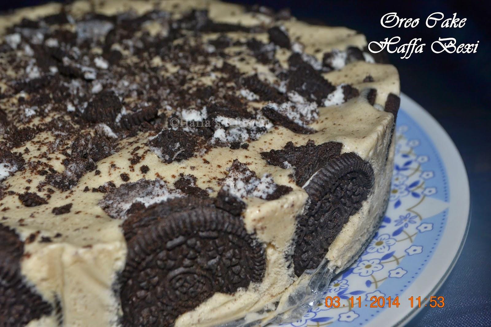 Oreo ice cream cake wedding anniversary special haffa's kitchen