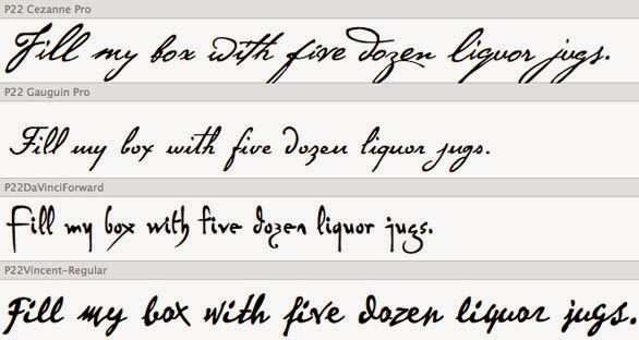 Font Lucida Handwriting