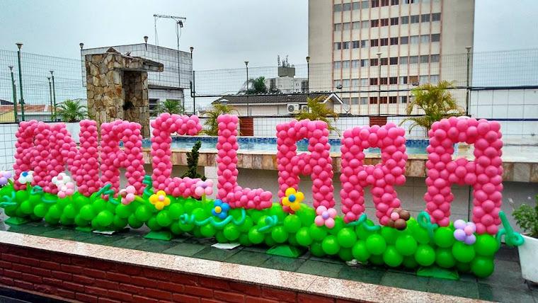 Nome de Balão com Jardim