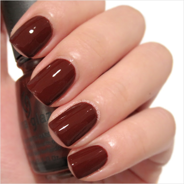 China Glaze Brownstone Nail Polish Swatch & Review, Metro Collection