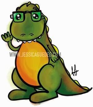Mascote do Blog What's up DINO?! - Criado por Jéssica Guedes (http://www.jessicaguedes.com)