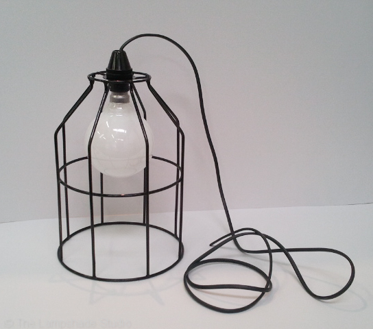 The Lampshade Studio: Vintage Cage Pendants