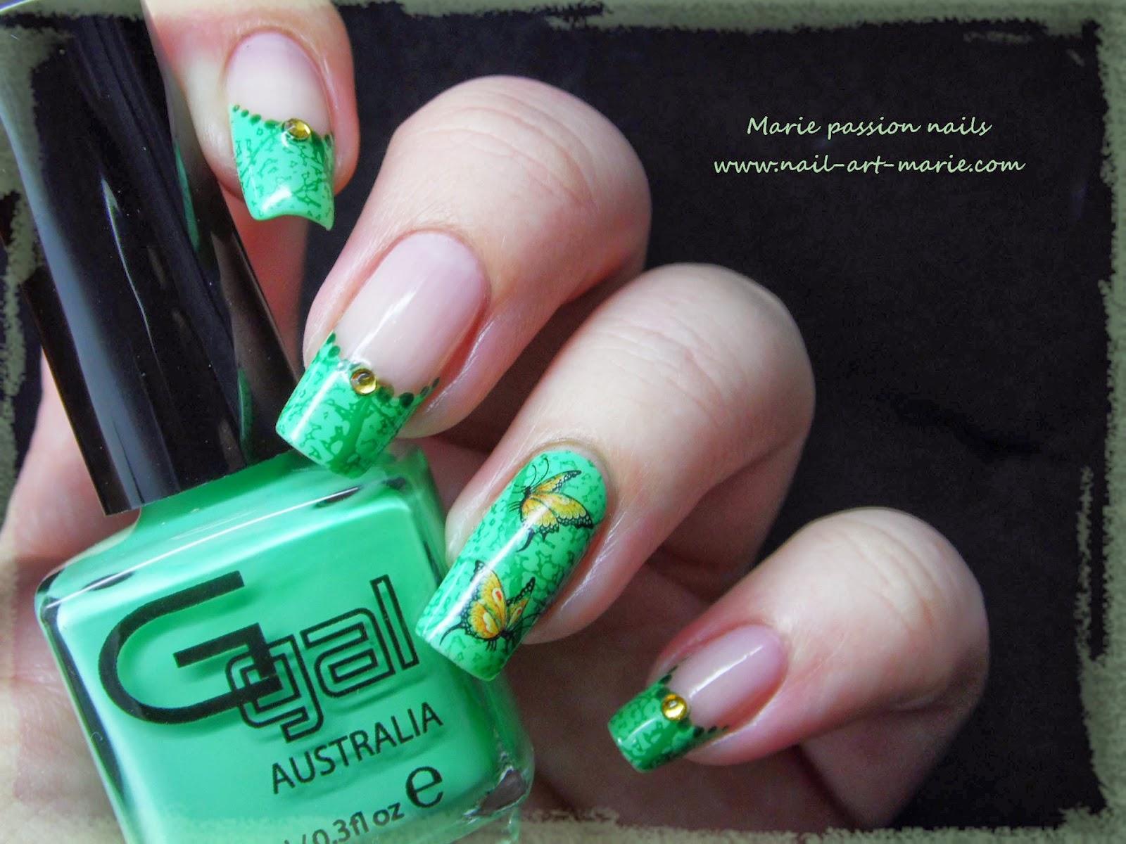 Nail art French nature7
