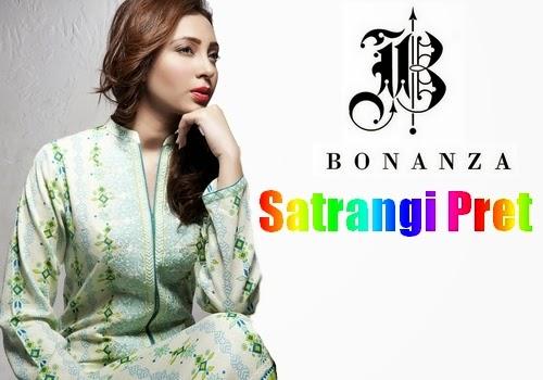 Bonanza Satrangi Pret Lawn 2014