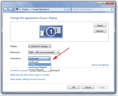 How to Rotate the Desktop Display Screen in Windows 7 2