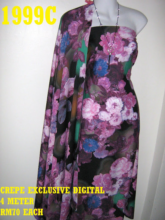 CP 1999C: CREPE EXCLUSIVE DIGITAL PRINTED, 4 METER