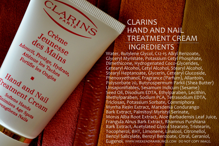Clarins Hand and Nail Treatment Cream Indian Makeup Beauty Skincare Review Blog Ingredients
