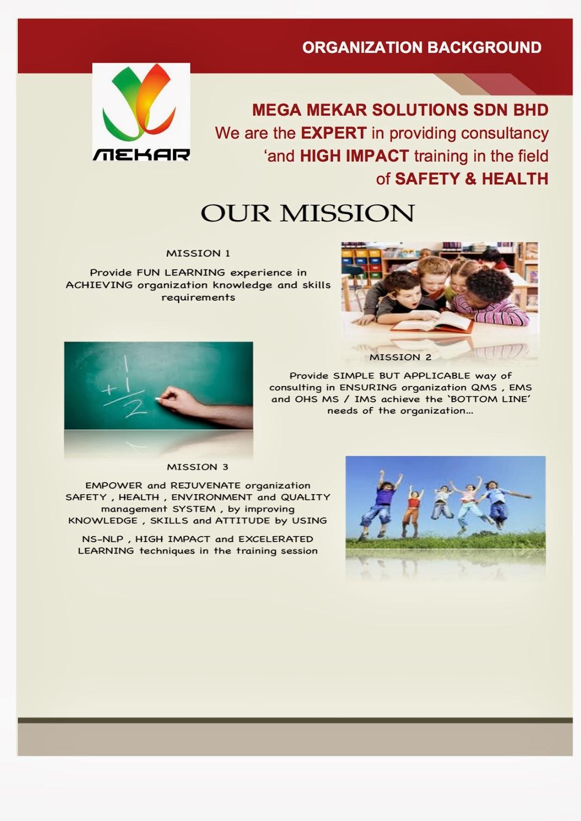 Osh e q guru mega mekar solutions sdn bhd our mission for E bathroom solution sdn bhd