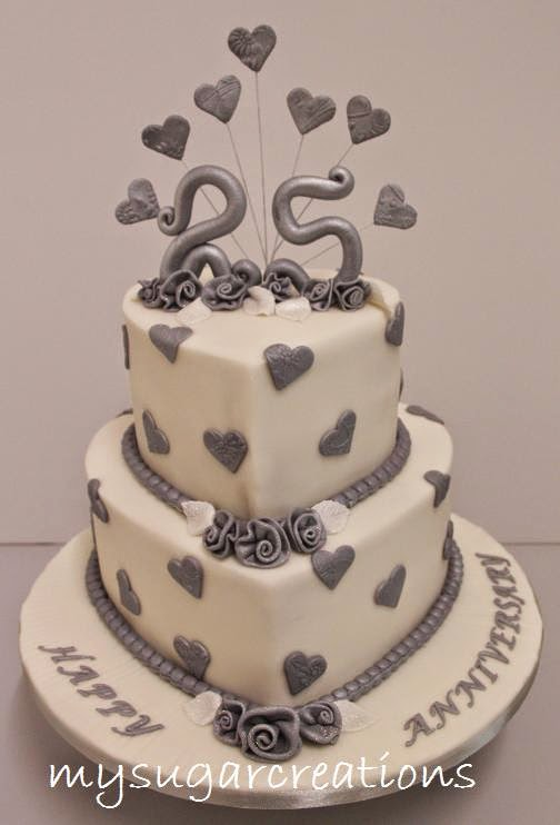 Cake Images For 25 Anniversary : My Sugar Creations (001943746-M): 25th Silver Wedding ...