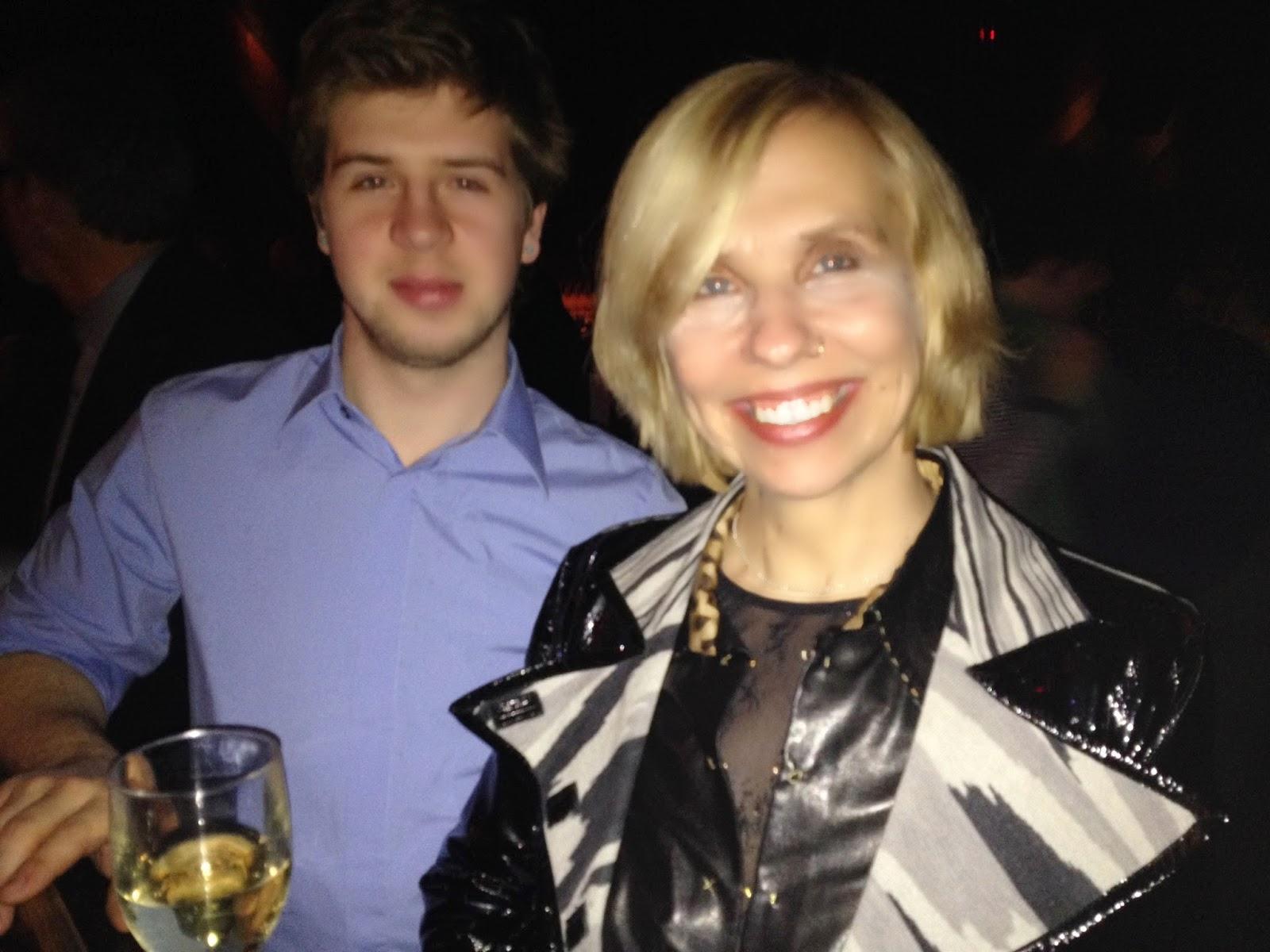 Kahil's partner Lucy Slvinski and her son