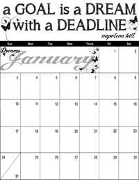 January 2016 Inspirational Calendar