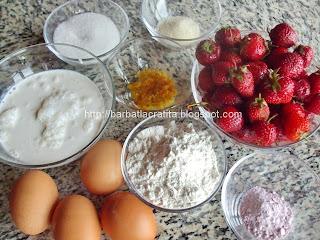 Prajitura cu crema de capsuni si frisca ingrediente reteta