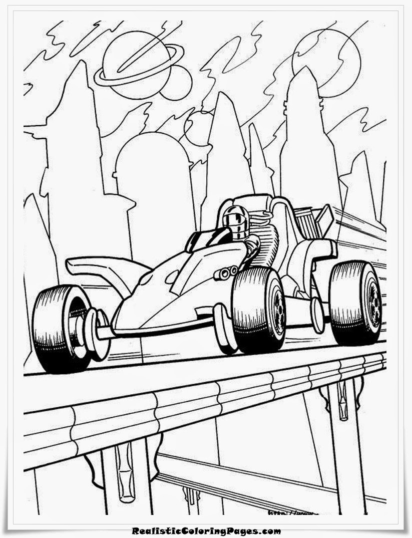 HotWheels Cars Coloring Pages