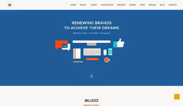 Buzz - Modern Flat One-Page Creative Drupal Theme