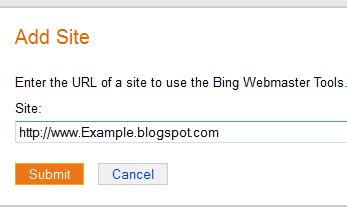 submit url to bing