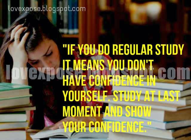funny exam study quotes status joke